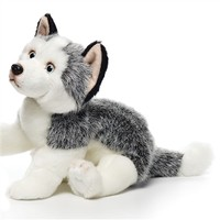 Lifelike Husky Stuffed Animal by Nat and Jules