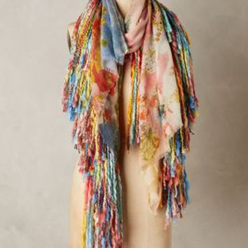 Fringed Octavia Scarf by Anthropologie in Pink Size: One Size Scarves