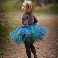 Petite Peacock Tutu - SEWN and Super FULL - Classic style tutu in 5 FABulous colors - Beautiful and Unique