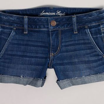 AEO 's Denim Trouser Midi Short (Medium Vintage)