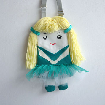 For girls bag doll ballerinas, Charming ballerina in tutu skirt, Emerald dress