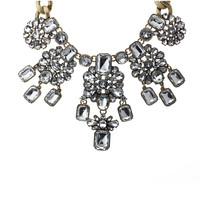 Crystal Droplet Statement Necklace