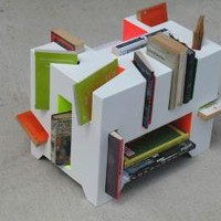 A different way to store your books : Book Porcupine by Holly Palmer