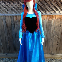 Ariel Kiss the Girl in Taffeta with Taffeta Bow Hairclip Adult Costume Version B