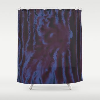 faux tie-dye Shower Curtain by DuckyB