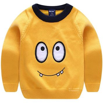 Boys Toddler Pullover Knitted Children Sweater