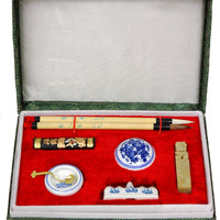 Mandarin Calligraphy and Chop Set (China) | Overstock.com Shopping - The Best Deals on Office Decor