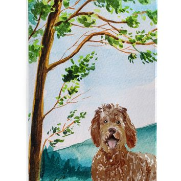 Under the Tree Labradoodle Michelob Ultra Hugger for slim cans CK2568MUK