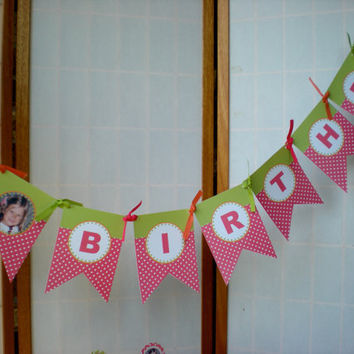 Happy Birthday Banner digital file print your own by APartyStudio
