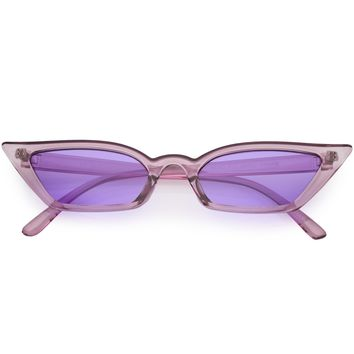 Retro Women's Translucent Thin Cat Eye Pantone Sunglasses C663