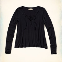 Lace-Up Easy T-Shirt