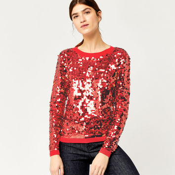 SEQUIN DISC JUMPER