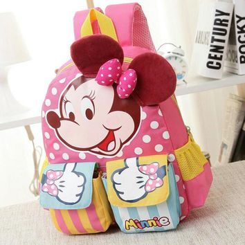 Cartoon Mickey Children School Bags For Girls&Boy Kids Backpack Child Book Bag Minnie Princess Schoolbags Mochila Escolar