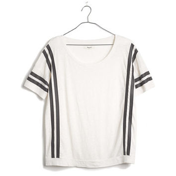 Banded Tee in Courtstripe