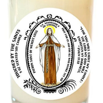 Saint Margaret for Weight Loss 8 Oz Scented Soy Glass Prayer Candle