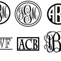 Small Vinyl Monogram Sticker