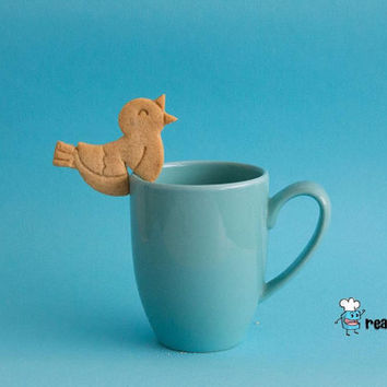 Hanging mug bird cookie cutter, 3d printed - Bird biscuit cutter - animal cookie cutter creative baking gift
