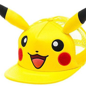 bioWorld Pokémon Pikachu Big Face with Ears Hat, One Size