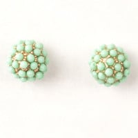 Mint Pebble Earrings Womens Accessories - Purses - Clutches - Wallets - Scarves from For Elyse