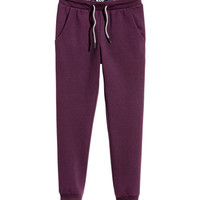 Foldover Waistband Joggers - from H&M
