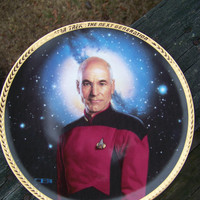 Captain Jean-Luc Picard--Collector Plate--Star Trek The Next Generation--The Hamilton Collection--by Thomas Blackshear II