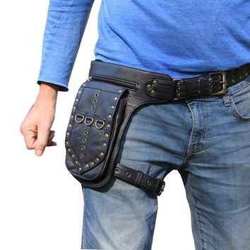 One Leaf Leather Leg Holster Utility Belt Thigh Bag