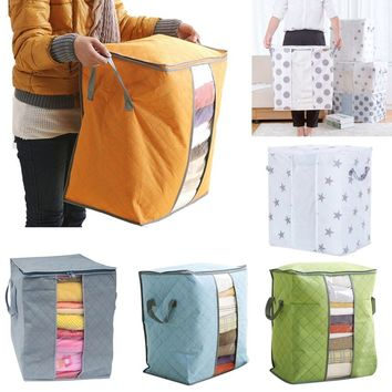 Famazing! Portable Organizer Non Woven Clothing Pouch Holder Blanket Pillow Underbed Storage Bag Box