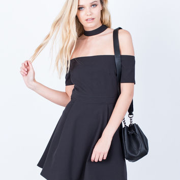 Flared Choker Dress