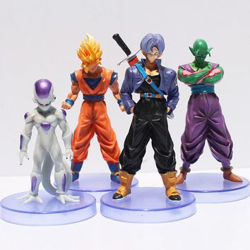 Dragon ball z figures  3th Goku figure action toy 4pcs/set Toy