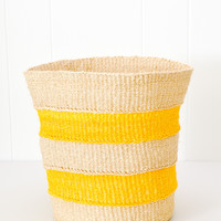 Striped Basket - Yellow