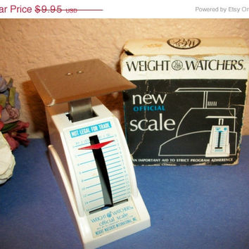 Food Scale Vintage Weight Watchers Diet Portion Control Aid 1 Ounce to One Pound Measuring Kitchen Cooking Postage Mailing Letter Tool