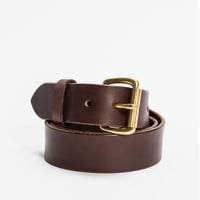 Leather Belt Brass Hardware