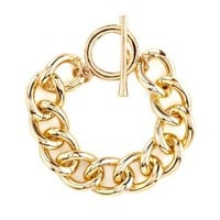 Chain Link Toggle Bracelet: Charlotte Russe
