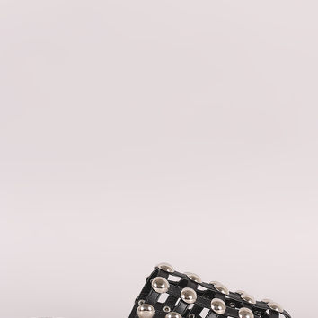 Studs Accent Caged Slip-On Mule Flat