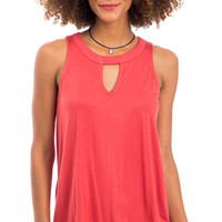 Canyon Coral Keyhole Tank Top