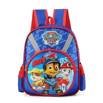 Boys bookbag trendy Six Puppy Little Boy Backpack Cartton Printing School Bag Backpacks For Boys girls of Kindergarten Bag School knapsack  AT_51_3