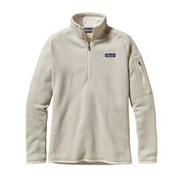 Patagonia Women's Better Sweater Quarter Zip Pullover- Raw Linen