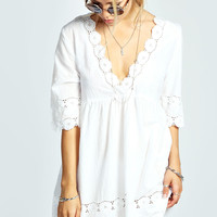 Bronte Embroidered V Neck Sun Dress