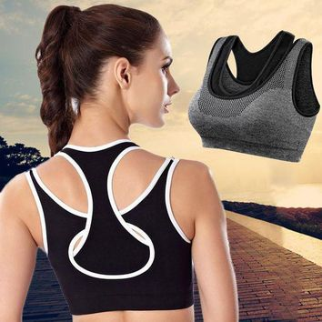 PEAPFS2 Women Yoga Shirt Running Fitness GYm Sports Bra Yoga Gym Top Vest Shockproof High Support Workout Bra for Women Activewear