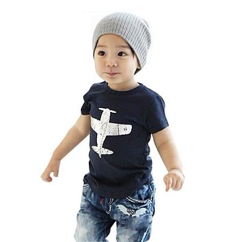 1-6Y Toddler Baby Kids Boys Novelty Funny Cotton Short Sleeve T-Shirt 2017 New Shirts Hot
