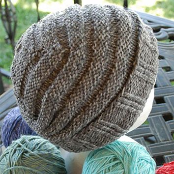 One Skein Hat for Him Kit in Cotton Fleece