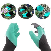 Hot Rubber Garden Gloves Safety Gardening Gloves For Soil Flip Man Moman Protection Hand Garden Tools Supplies Products