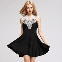 Nightclubs Sleeveless Lace Slim Dresses