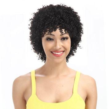 Brazilian Kinky Curly Short Human Hair Wigs For Women