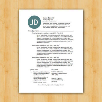 Easy to Edit Resume Template - The Donnelly Design - Helping You Save Time & Get The Dream Job You Deserve - Instant Download