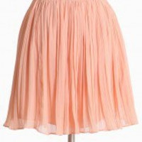 Georgette Pleated Skirt In Powder By BB Dakota | Modern Vintage New Arrivals