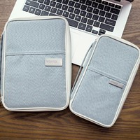 Day-First™ Gray Passport Holder Ticket Purse Wallet