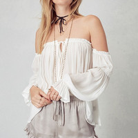 Coco Off-Shoulder Bell Sleeve Peasant Top