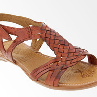 Sandals Handmade Genuine Brown Woven Leather Flip Flops