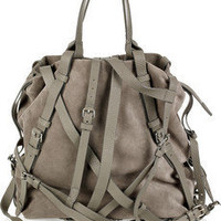 Alexander Wang | Kirsten multi-strap suede tote | NET-A-PORTER.COM